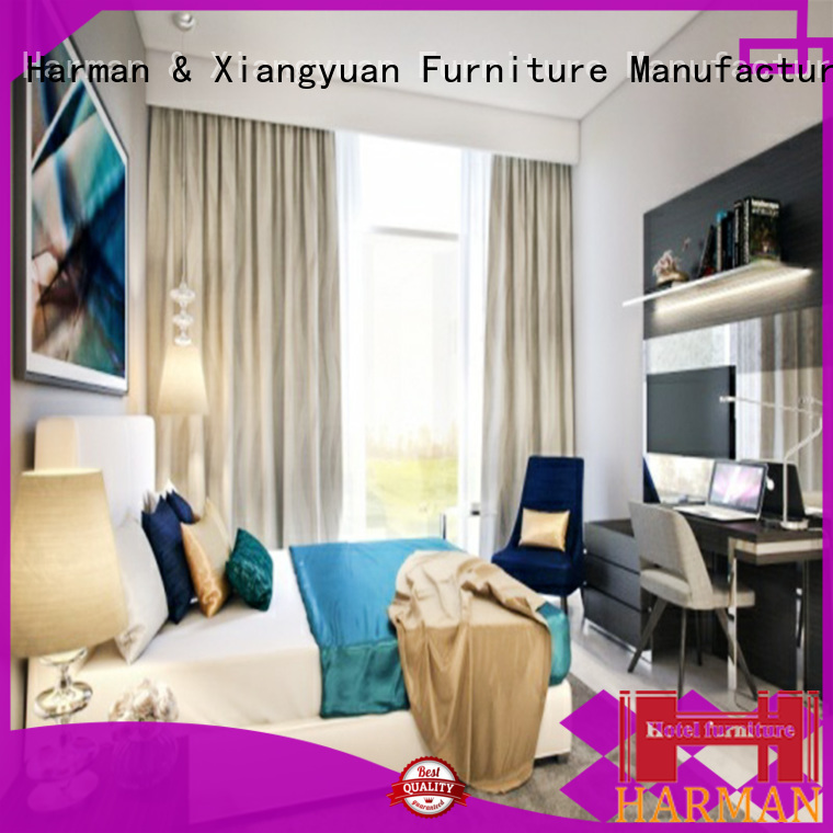 Harman factory price hotel bedroom furniture sets supplier for resort