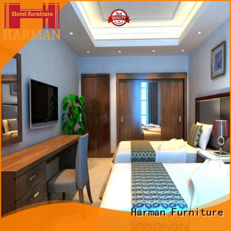 Harman white queen bedroom suite supplier comercial use