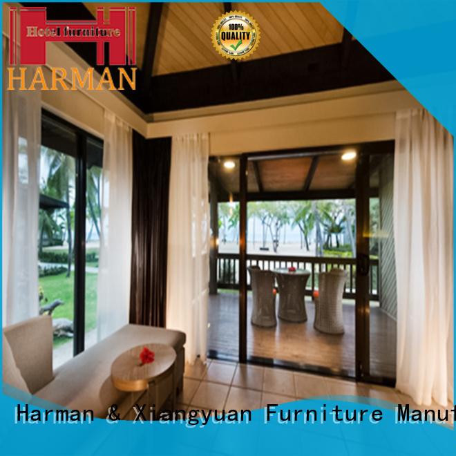 Harman white queen bedroom suite supplier for hotel